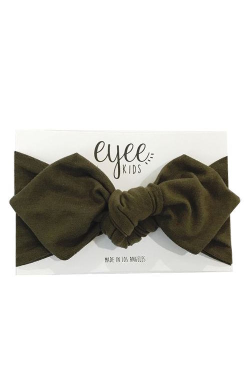 Top Knot Headband - Olive