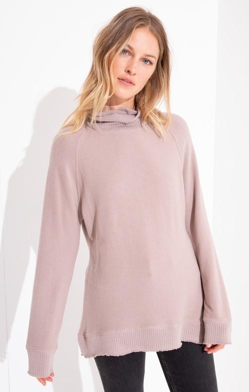 Mystic Mauve Soft Spun Mock Neck Pullover
