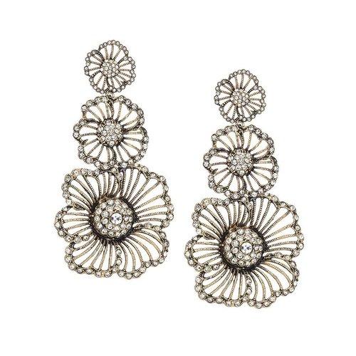 Triple Flower Earrings