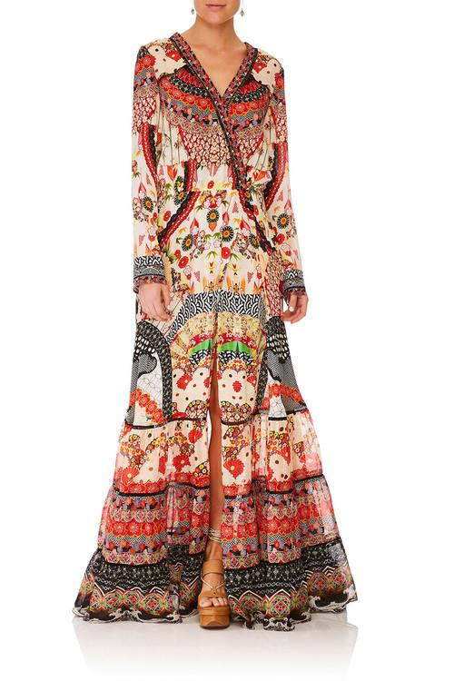 Cross Front Maxi Dress