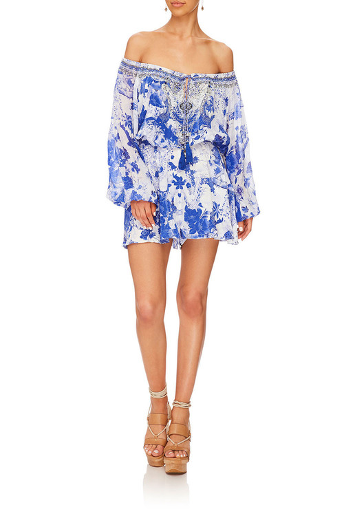 Blouson Sleeve Playsuit