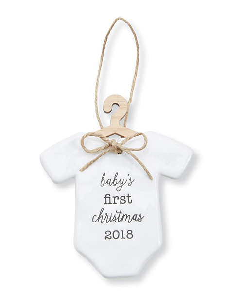 Baby First Ceramic Ornament