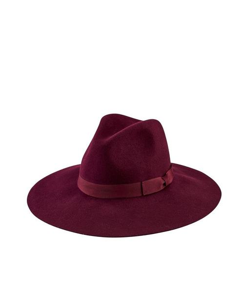Floppy Fedora With Bow - Plum