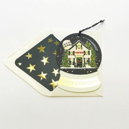 Snowglobe House Happy Christmas Card