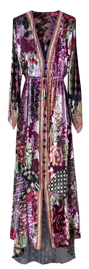 Velvet Burnout Maxi Dress