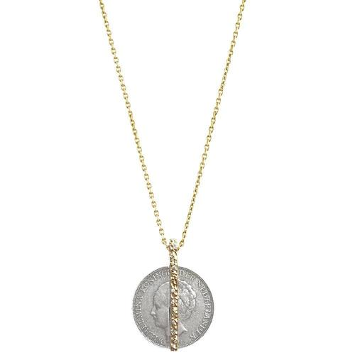 Gold Crystal Bar Wilhelmina Necklace