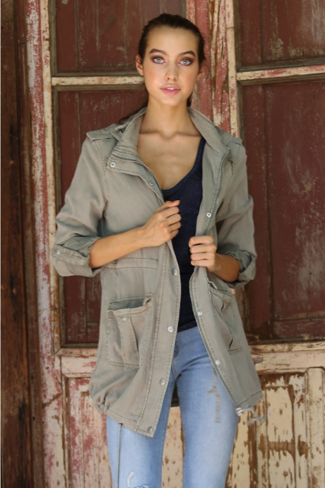Tencel Utility Jacket