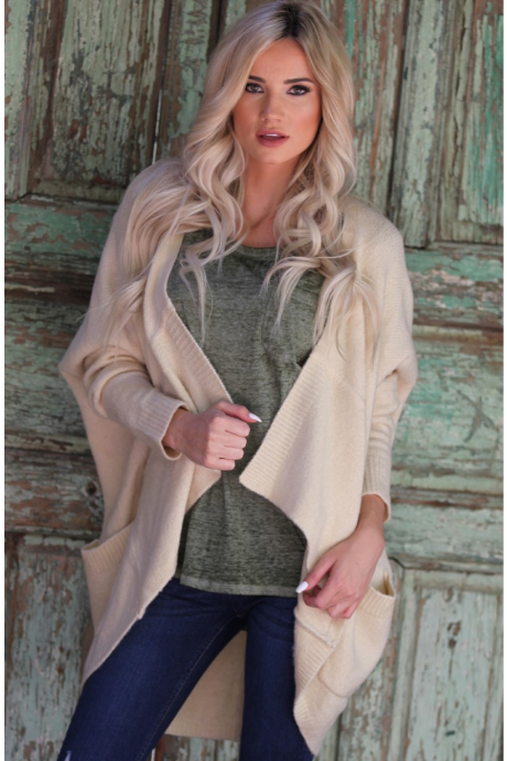 Very Soft Slouchy Open Cocoon Cardigan