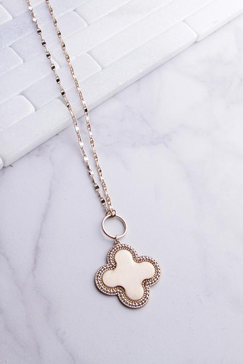 Clover Glitz Chain Long Necklace