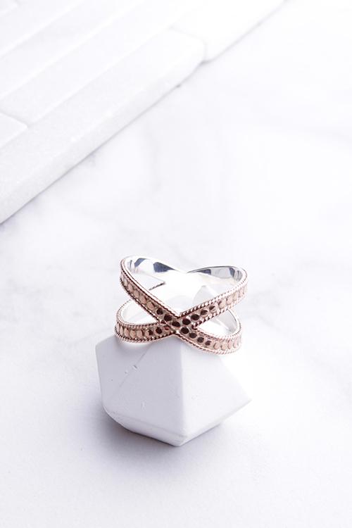 Anna Beck Cross Ring-Rose Gold