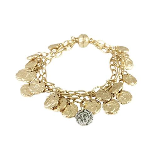 Apollonia Multi Coin Bracelet