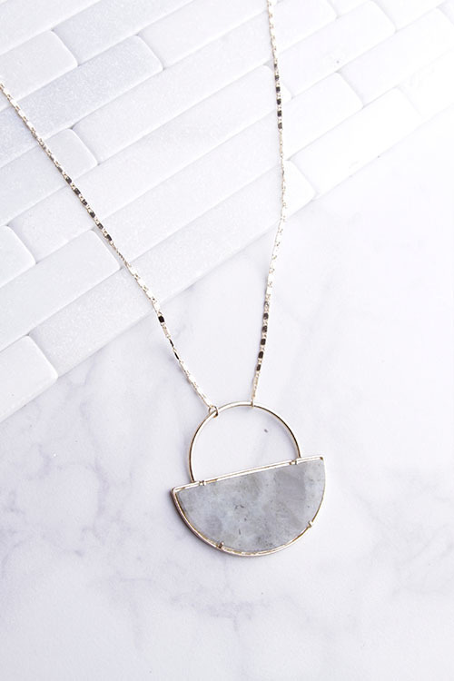 Geo Half Tortoise Necklace