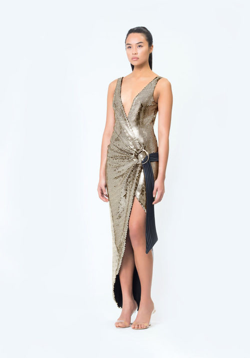 Wick Metallic Gown