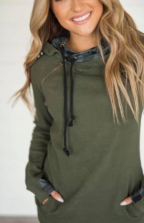 Evergreen Plaid Double Hoodie