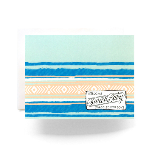 Camp Blanket Baby Greeting Card