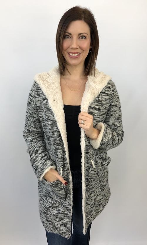 Sara Sherpa Hooded Jacket