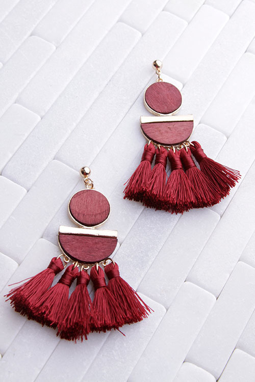 Wood Tassel Dangle