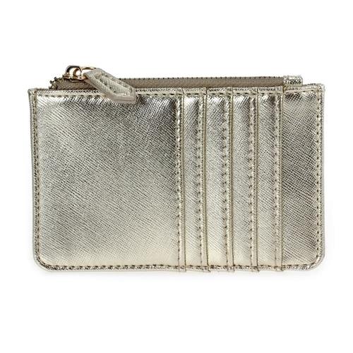 Multi Slot Zip Card Holder - Gold