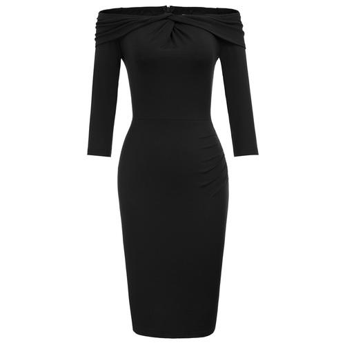 Sheena Dress (Navy or Black)