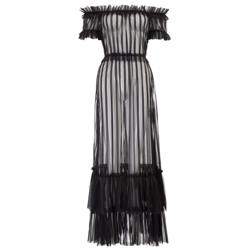 Kat Sheer Striped Maxi Dress
