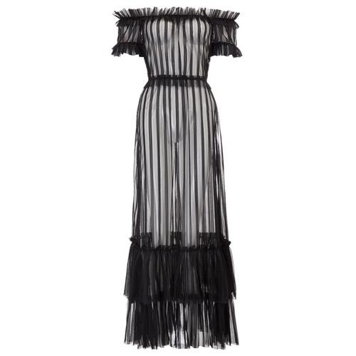 Kat Sheer Striped Maxi Dress