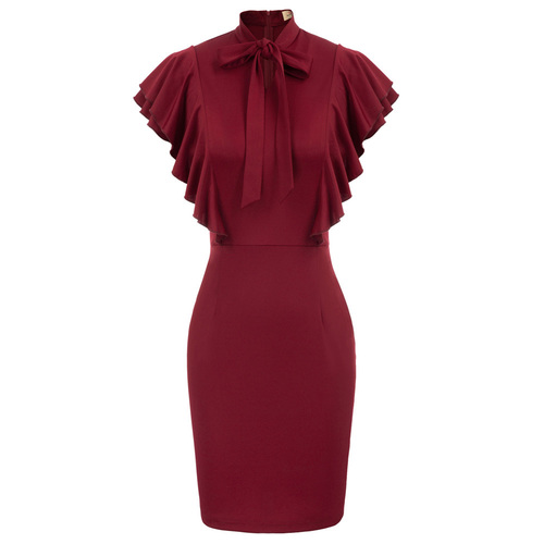 Victoria Dress (Black or Berry)