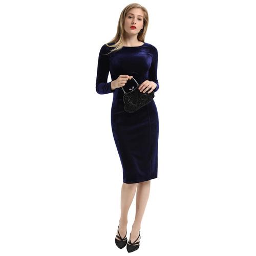 Vallens Velvet Dress (Blue or Black)