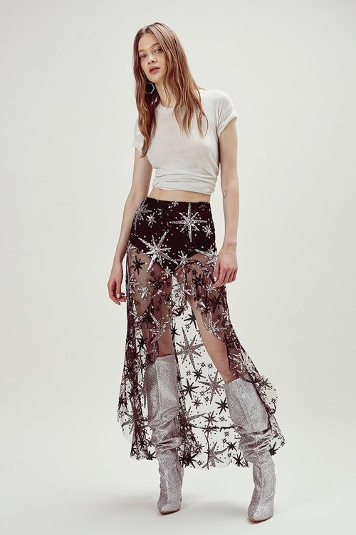 Stardust Asymmetrical Skirt
