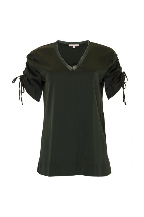 Tee Ruched V-neck