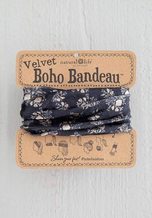 Velvet Black Mini Half Bandeau