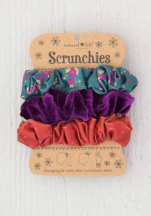 Purple Velvet Scrunchies