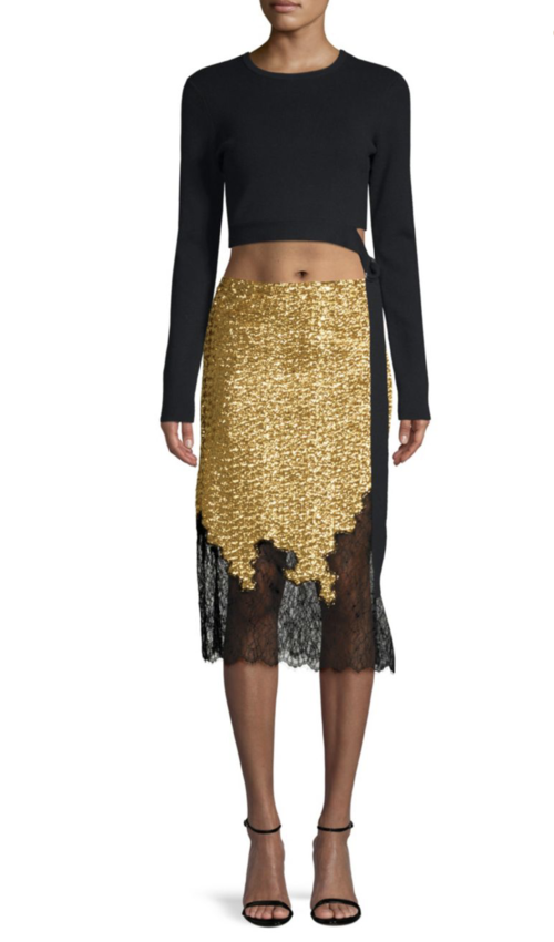 Sequin Lace Skirt