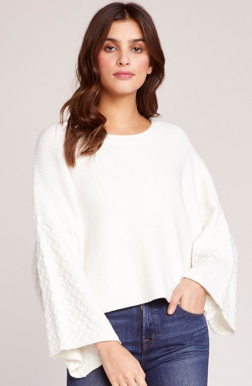 In The Mix Flare Sleeve Top