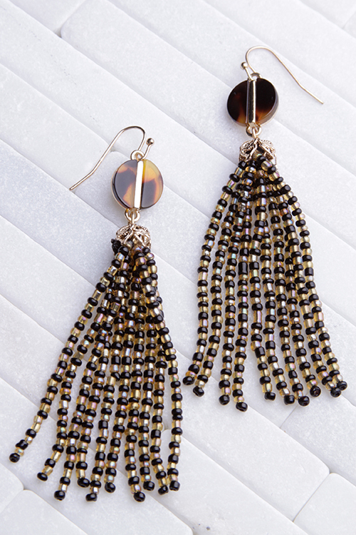 Beaded Tassel Tortoise Dangle