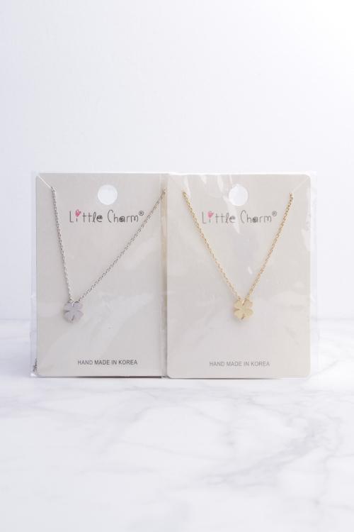 Clover Necklace- Silver