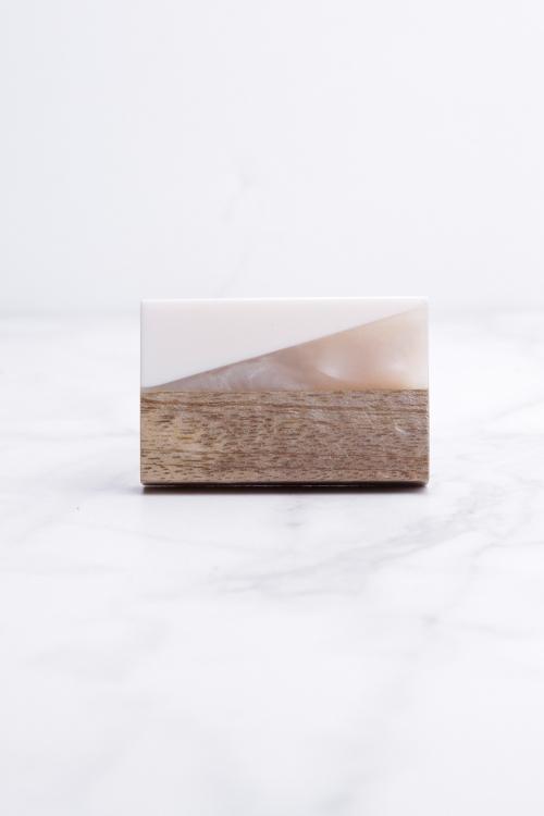 Ivory/Wood/Resin Knob