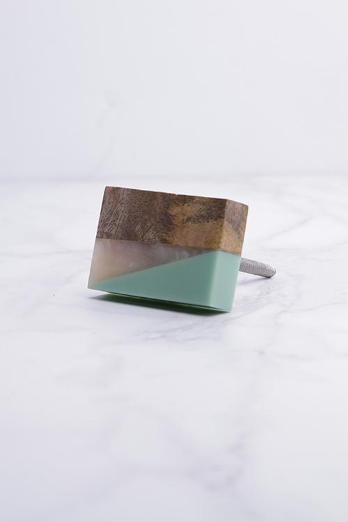 Mint/Wood/Resin Knob