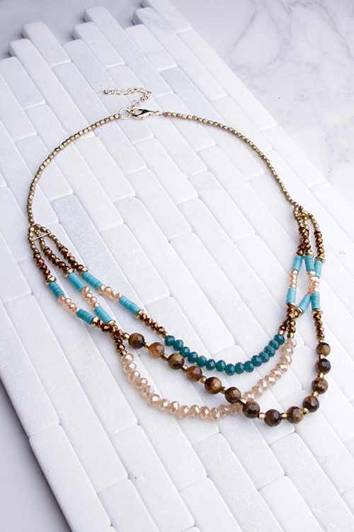 Beaded Boho Short Necklace