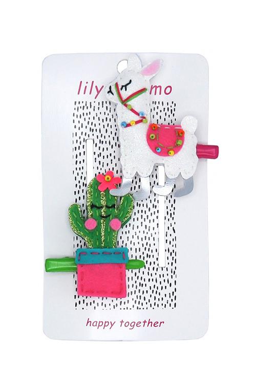Llama Drama Hair Clip Set