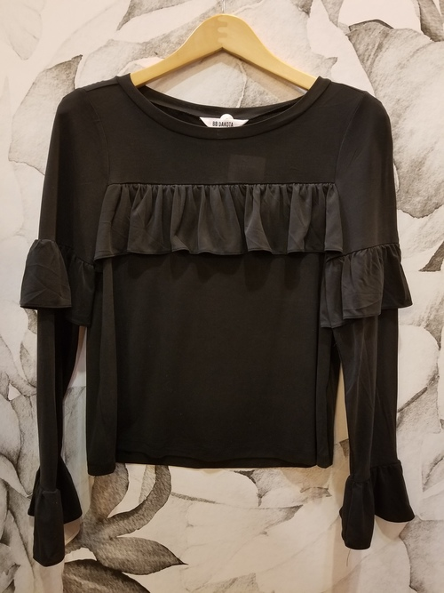 Poetic Justice Ruffle Trim Top