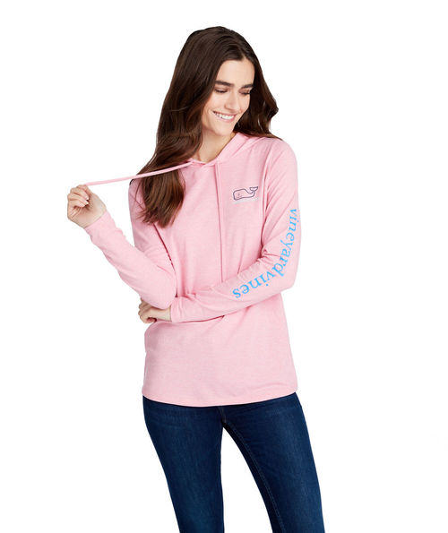 0d402a7f Vineyard Vines Long Sleeve Edgartown Vintage Whale Hoodie Tee Jetty Red