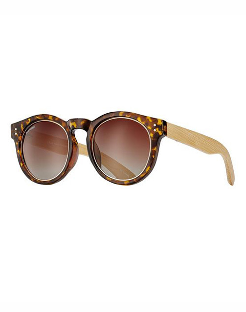 Golden Polarized Tortoise Ylw/Gold Mirror Sunglass