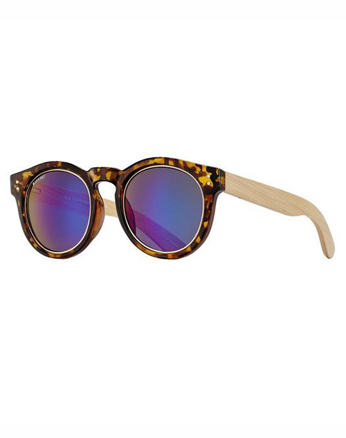 Golden Yellow/Tort Blue Mirror Sunglass