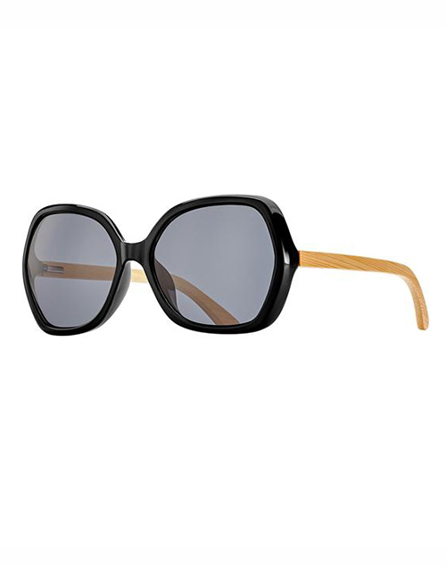Ryli Polarized Gloss Onyx/Bamboo Sunglass
