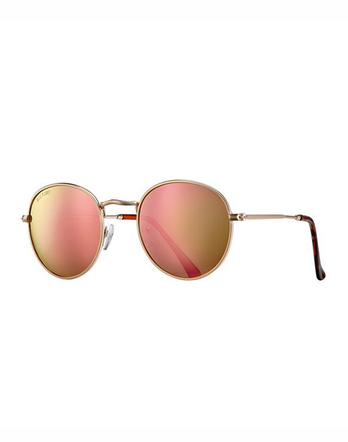 Ash Polarized Rose Gold Lens Sunglass