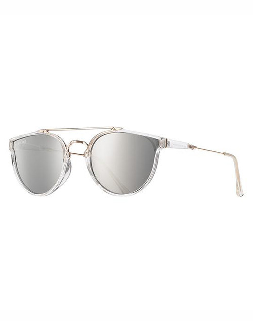 Romi Polarized Crystal Clear Silver Mirror Sunglass