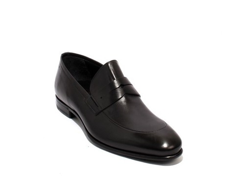 Black Leather / Elastic / Loafers Shoes