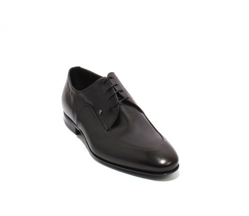 Black Leather Lace-Up Dress Shoes
