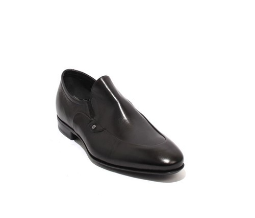 Black Leather / Elastic / Dress Shoes