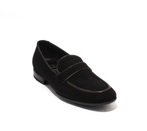 Black Suede Leather Classic Loafers Shoes